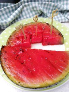 Gegrilde watermeloen