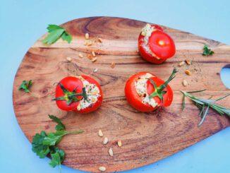 Gevulde BBQ tomaat met feta