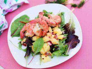 Garnalen met mango salade